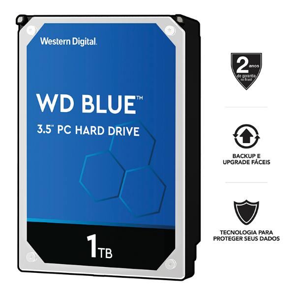 Imagem de HD 1TB HDD WD 1TB SATA6.0GBS WD10EZEX 64MB 7200RPM
