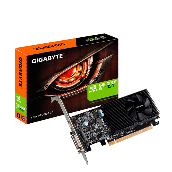Imagem de PLACA DE VIDEO GIGABYTE GEFORCE GT 1030 2GB/64BITS GDDR5  DVI-D+HDMI  GV-N1030D5-2GL