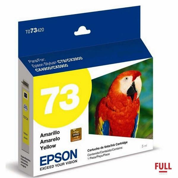 Imagem de CART. T073420-BR EPSON AMARELO P/ C92/CX5600/C110/CX7300/CX8300