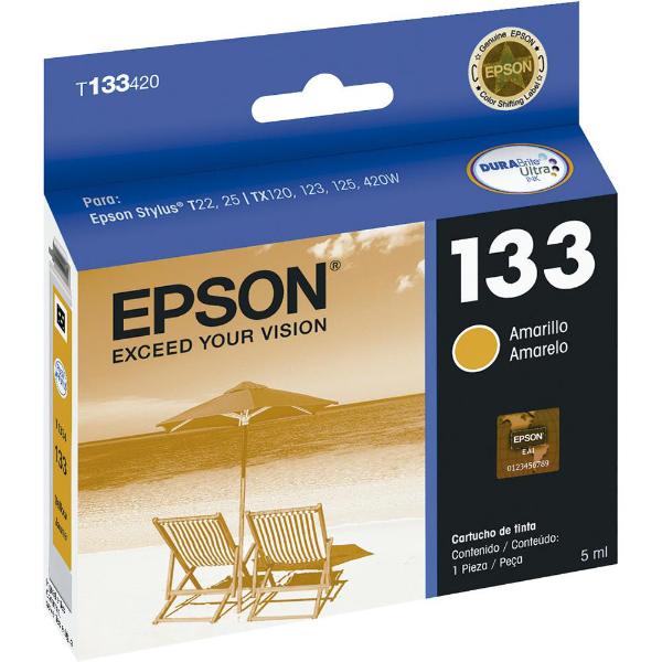 Imagem de CART. T133420-BR EPSON AMARELO P/ T25 / TX123 / TX125 / TX320F / TX420W