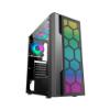 Imagem de GABINETE GAMER K-MEX CG-02TT MULTIVERSO LED RGB S/ FAN PRETO - CG02TTRH0010B0X