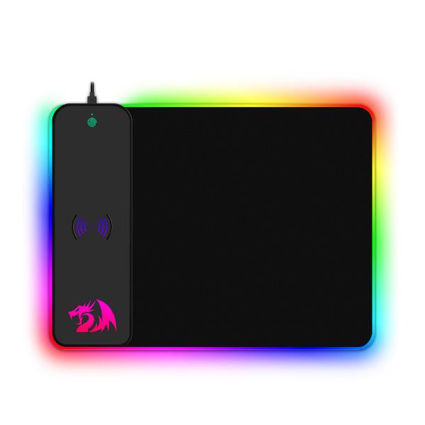 Imagem de MOUSEPAD GAMER REDRAGON CRATER Qi WIRELESS RGB PRETO  - P028