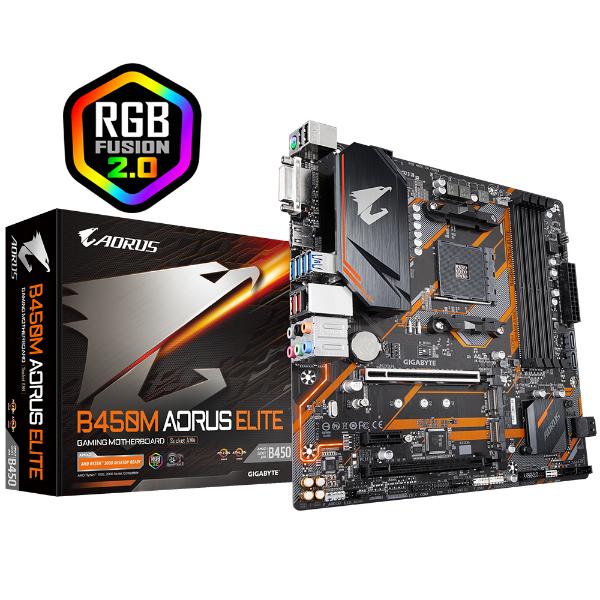 Imagem de PLACA MAE GAMER PLACA MAE AMD GIGABYTE B450M AORUS ELITE DDR4