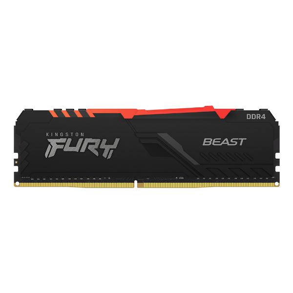 Imagem de MEMORIA KINGSTON FURY BEAST RGB 8GB DDR4 2666MHZ 1.2V BLACK DESKTOP - KF426C16BBA/8
