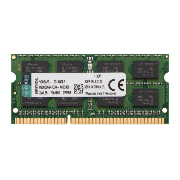 Imagem de MEMORIA KINGSTON 8GB DDR3 1600MHZ 1.35V NOTEBOOK - KVR16LS11/8WP