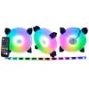Imagem de KIT COOLER K-MEX AK-AAF1 ARGB C/ 3 FANS 120X120X25MM + CONTROLE REMOTO