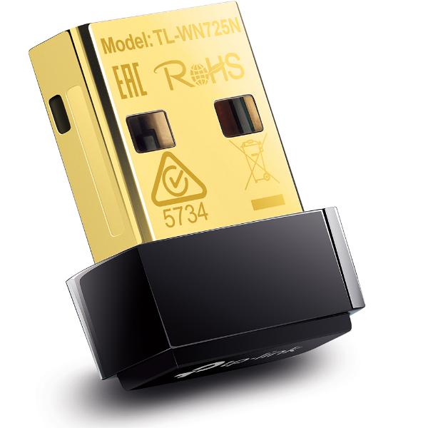 Imagem de ADAPTADOR WIRELESS USB 150 MBPS TP-LINK TL-WN725N