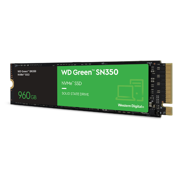 Imagem de SSD M.2 2280 WD GREEN SN350 960GB NVME - WDS960G2G0C